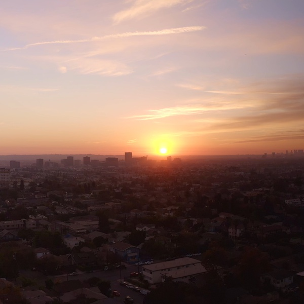 City of Los Angeles at Sunset