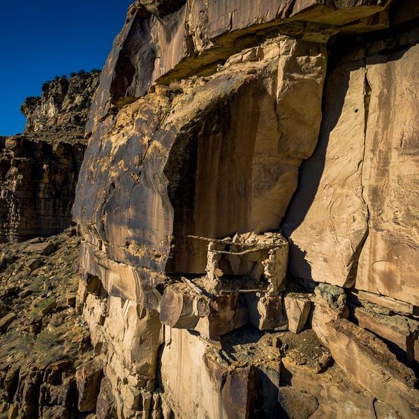 Archaeological Survey Image of Granary in Nine Mile Canyon, Utah