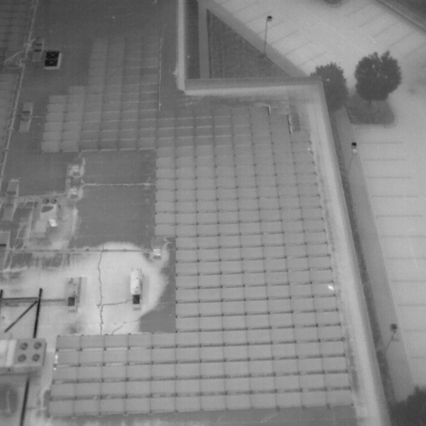 Thermal Flat Roof Moisture Inspection