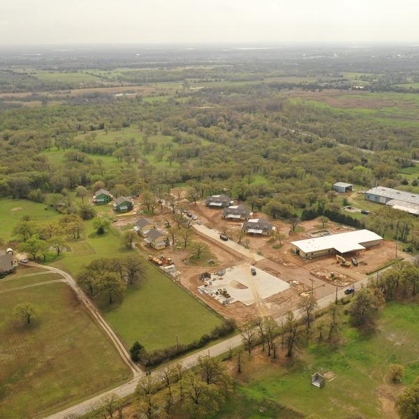 Construction progress taken at 350'- 6