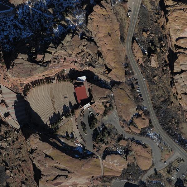 Red Rocks, Colorado High Resolution Aerial Ortho Image