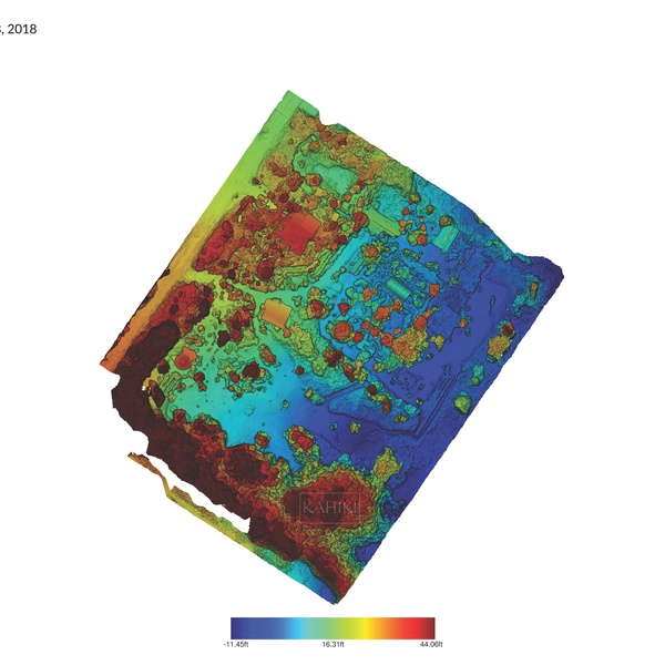 Elevation Map of 3 Acre property in Glenwood, HI