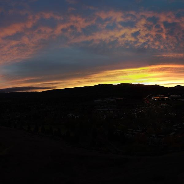 Downtown San Ramon sunset