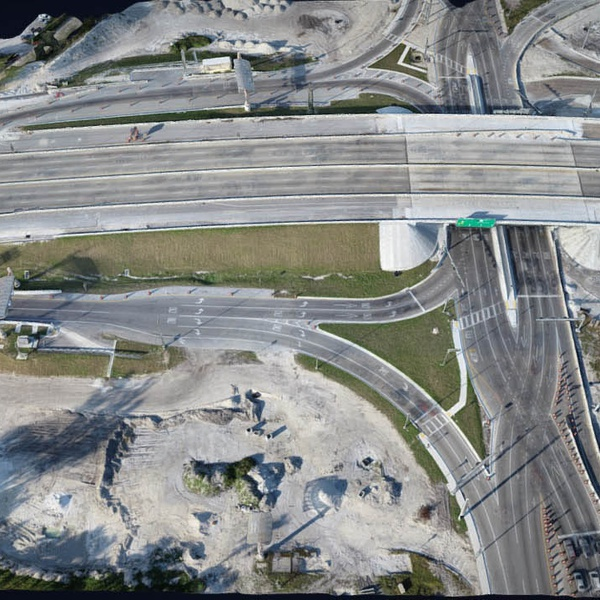 Point Cloud of hwy ramp construction