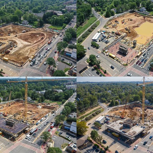 Construction Progress Collage