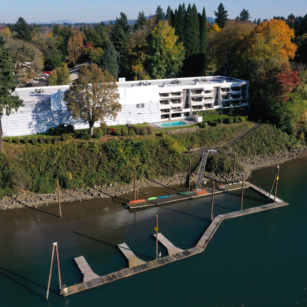 Condo Building Shot from over the Willamette River