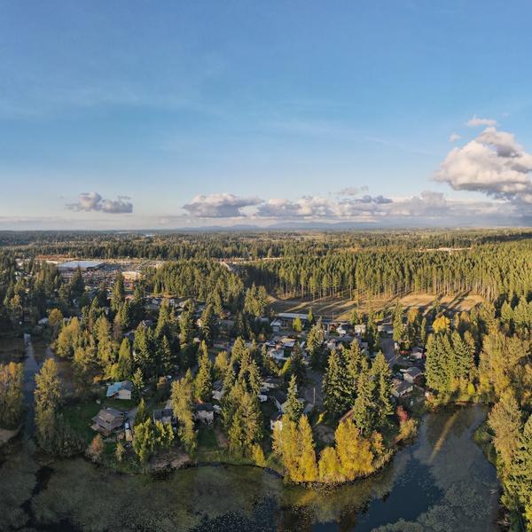 Wide angle lake